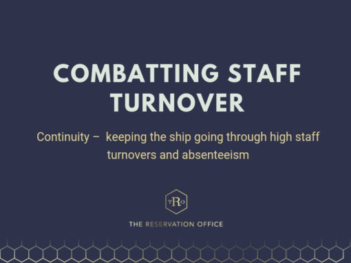 Continuity –  keeping the ship going through high staff turnovers and absenteeism